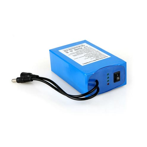 OEM Super Rechargeable 18650 12V DC Lithium Ion Battery Pack